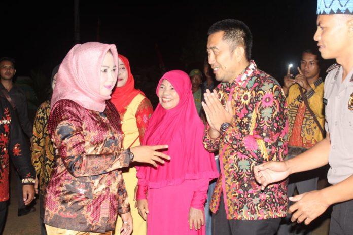 Bupati Tulang Bawang Hj. Winarti SE. MH., Menghadiri HUT ke-10 Kampung Panca Mulya